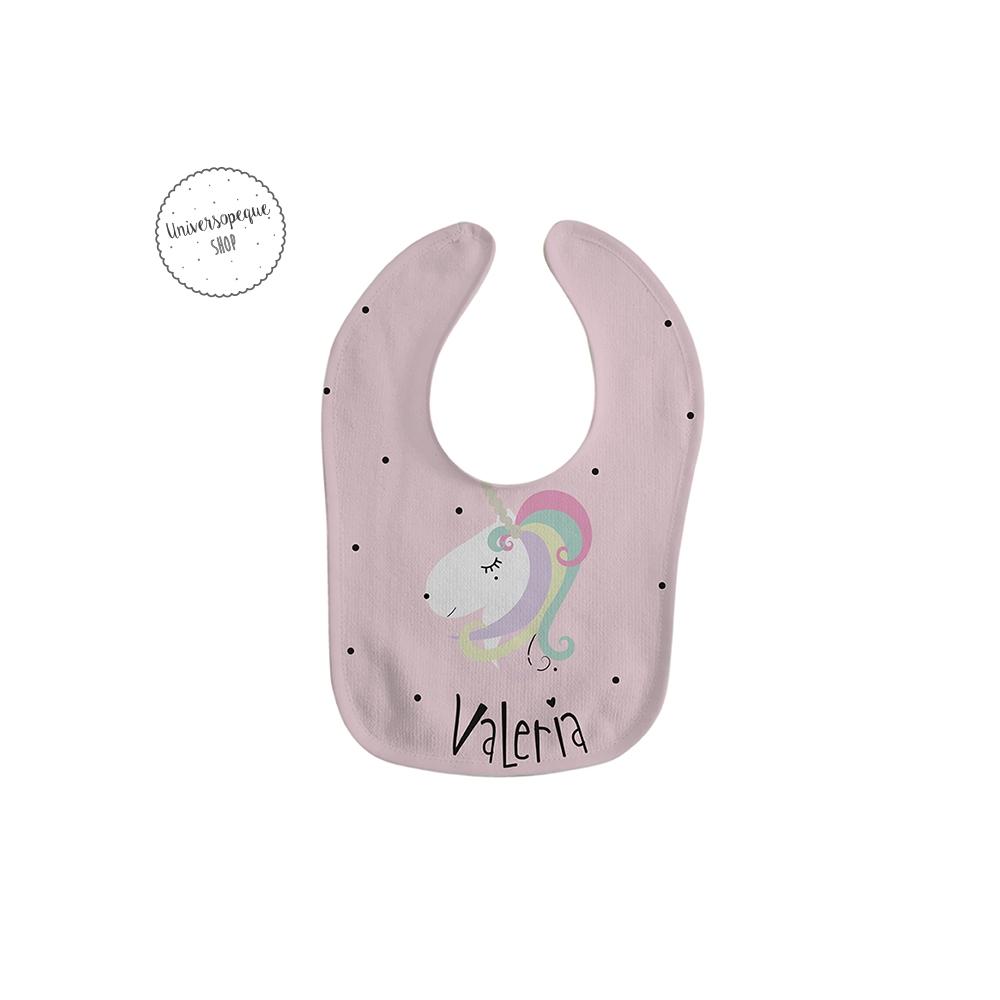 babero personalizado unicornio