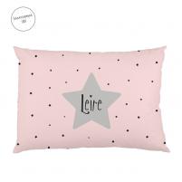 cojín personalizado estrella rosa