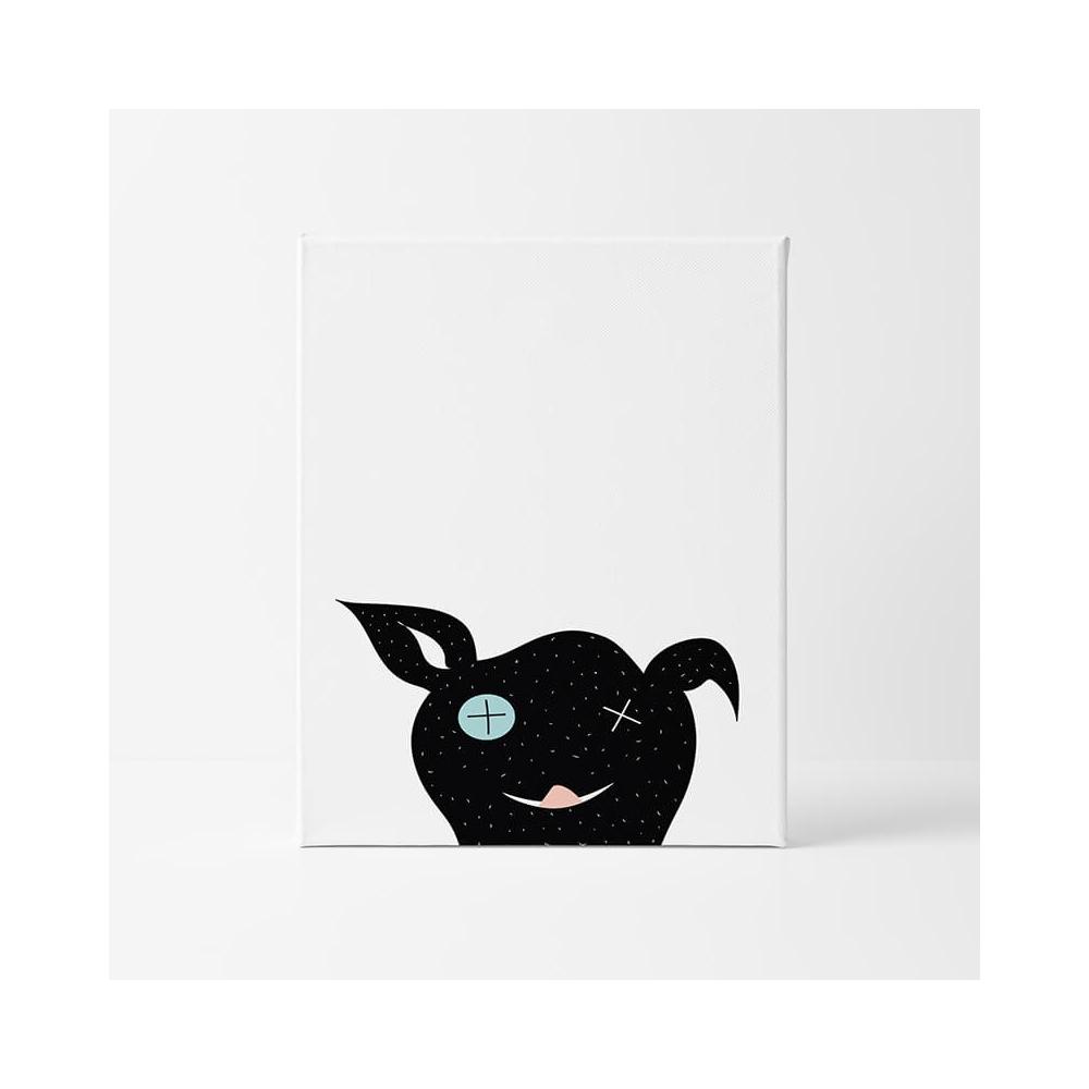 lámina infantil animal perro negro láminas