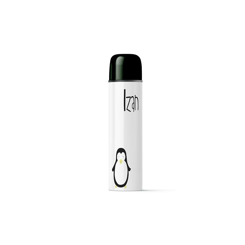 termo personalizado pingüino para niños