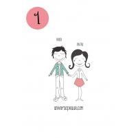 variante 1 del dibujo familiar para personalizar regalos