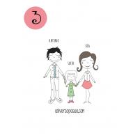 variante 3  del dibujo familiar para personalizar regalos