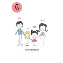variante 6 del dibujo familiar para personalizar regalos