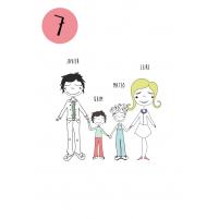 variante 7 del dibujo familiar para personalizar regalos