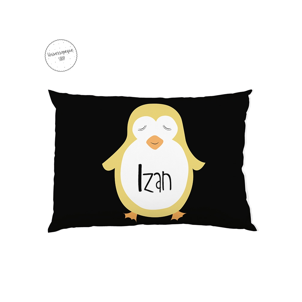 cojin personalizado pingüino