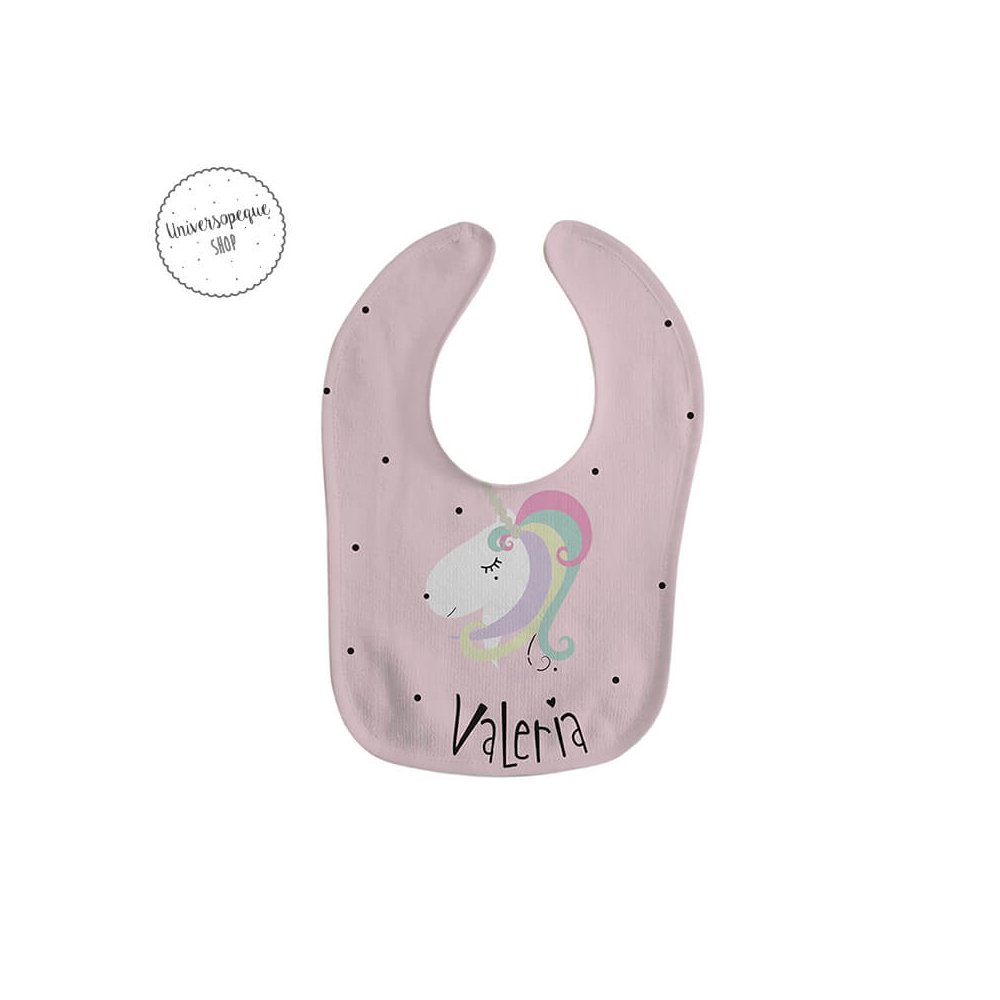 babero personalizado Unicornio para niñas