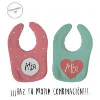 pack ahorro 2 baberos personalizados para niña