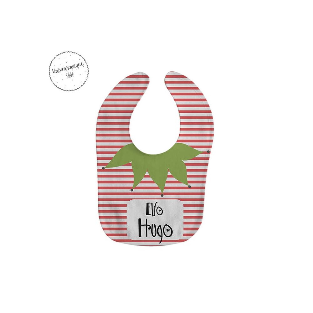 Babero Navidad Personalizado Elfo