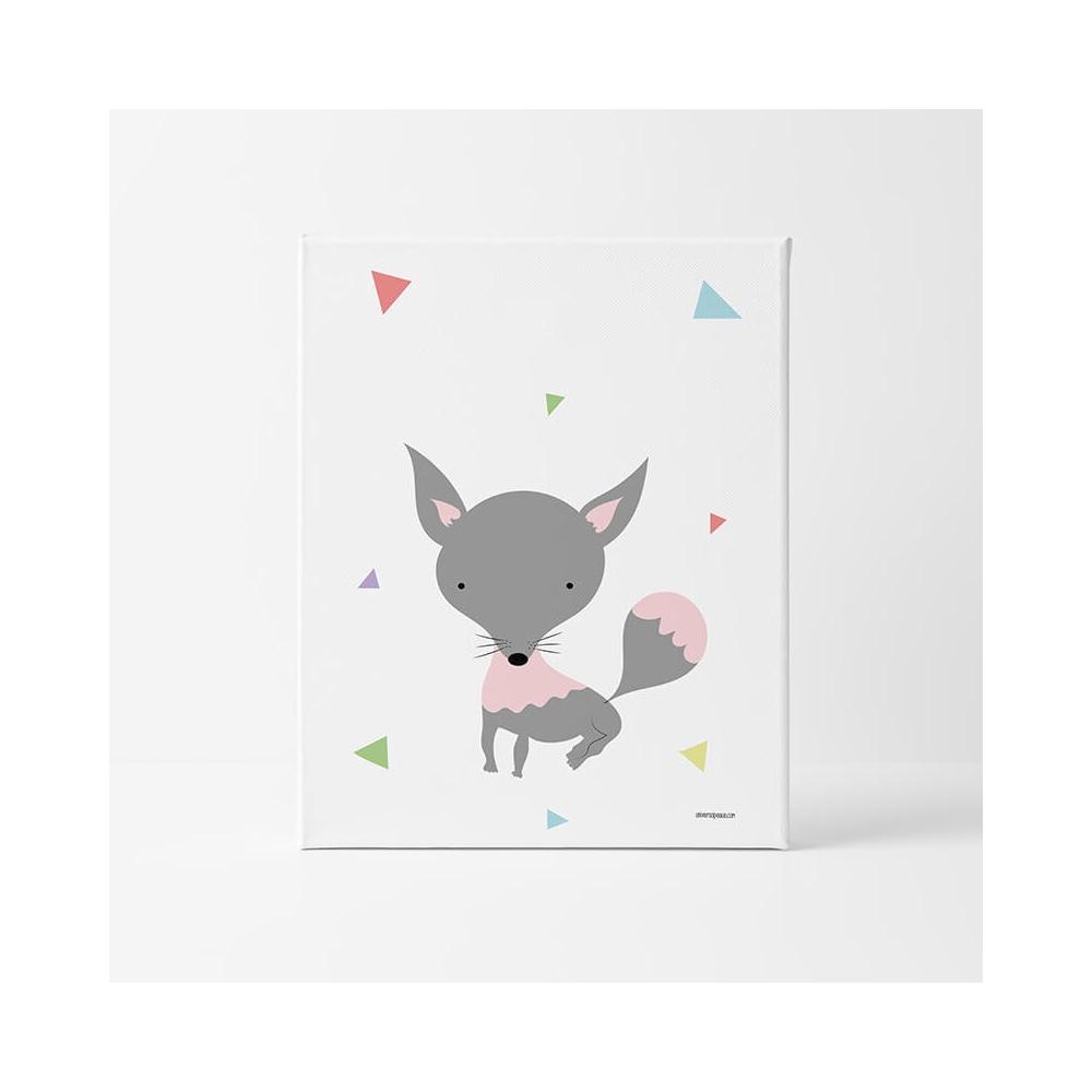 Lámina Infantil Animal Lobito láminas para bebés