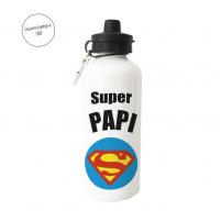 botella con logo superman para papa