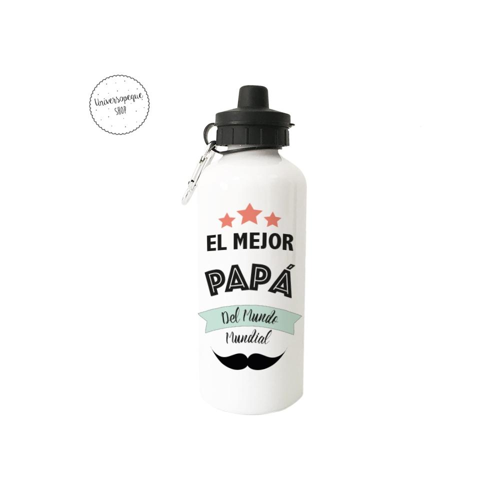 """Botella Personalizada """" El Mejor Papá del Mundo Mundial"""""""