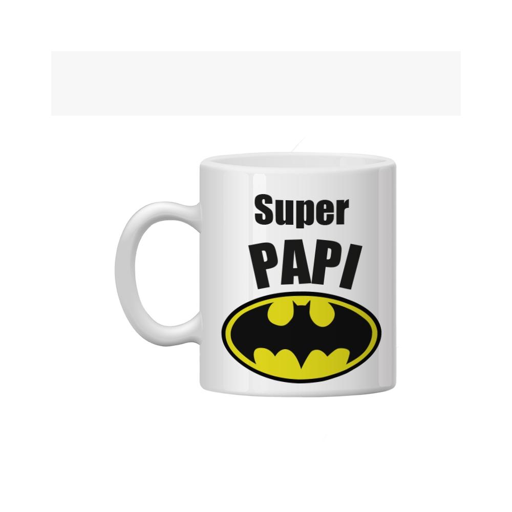 Taza personalizada para papa con el logo de batman