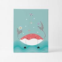 Lámina Infantil Animal Cangrejo láminas decorativas
