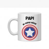 taza personalizada capitán américa