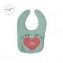 Babero personalizado para niño o niña en verde claro