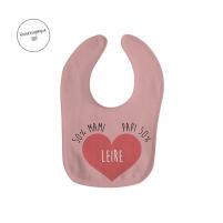 Babero personalizado para niña en color rosa
