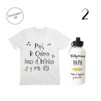 pack compuesto de botella más camiseta para el bebe
