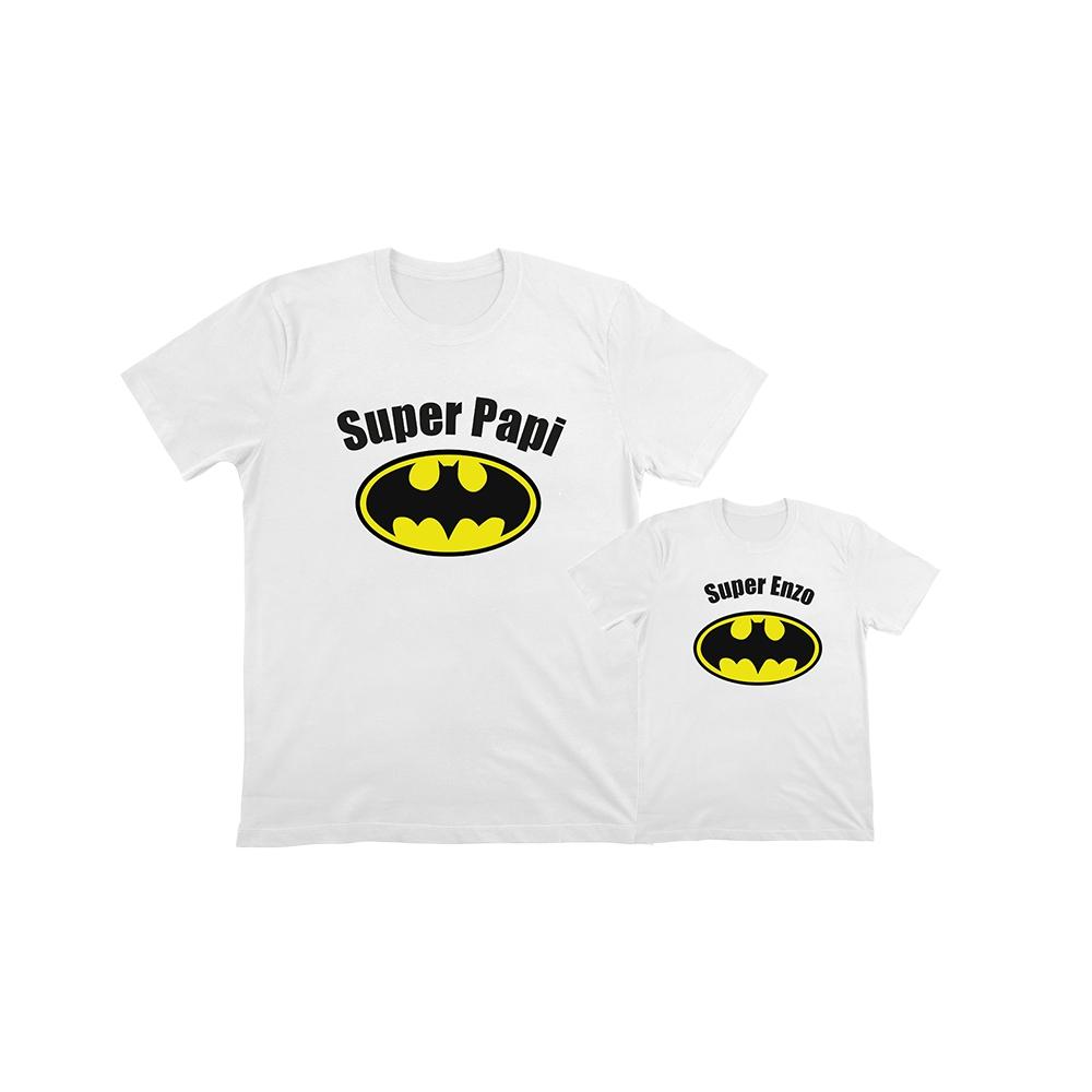 Camisetas personalizadas iguales para papa e hijo