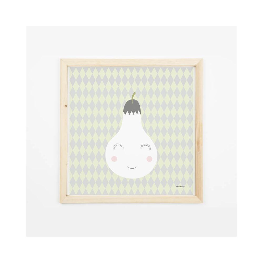 Lámina Infantil Fruta Pera para decorar habitacion infantil