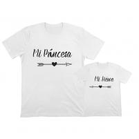 packs de camisetas color blanco para regalar a papá y mamá