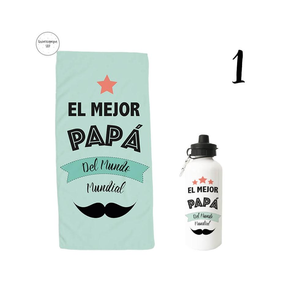 pack ahorro papá compuesto de toalla más botella