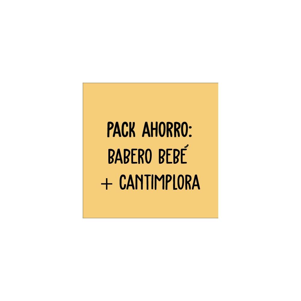 pack ahorro para papá compuesto de babero + cantimplora para papá