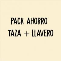 pack compuesto de taza + llavero para papá
