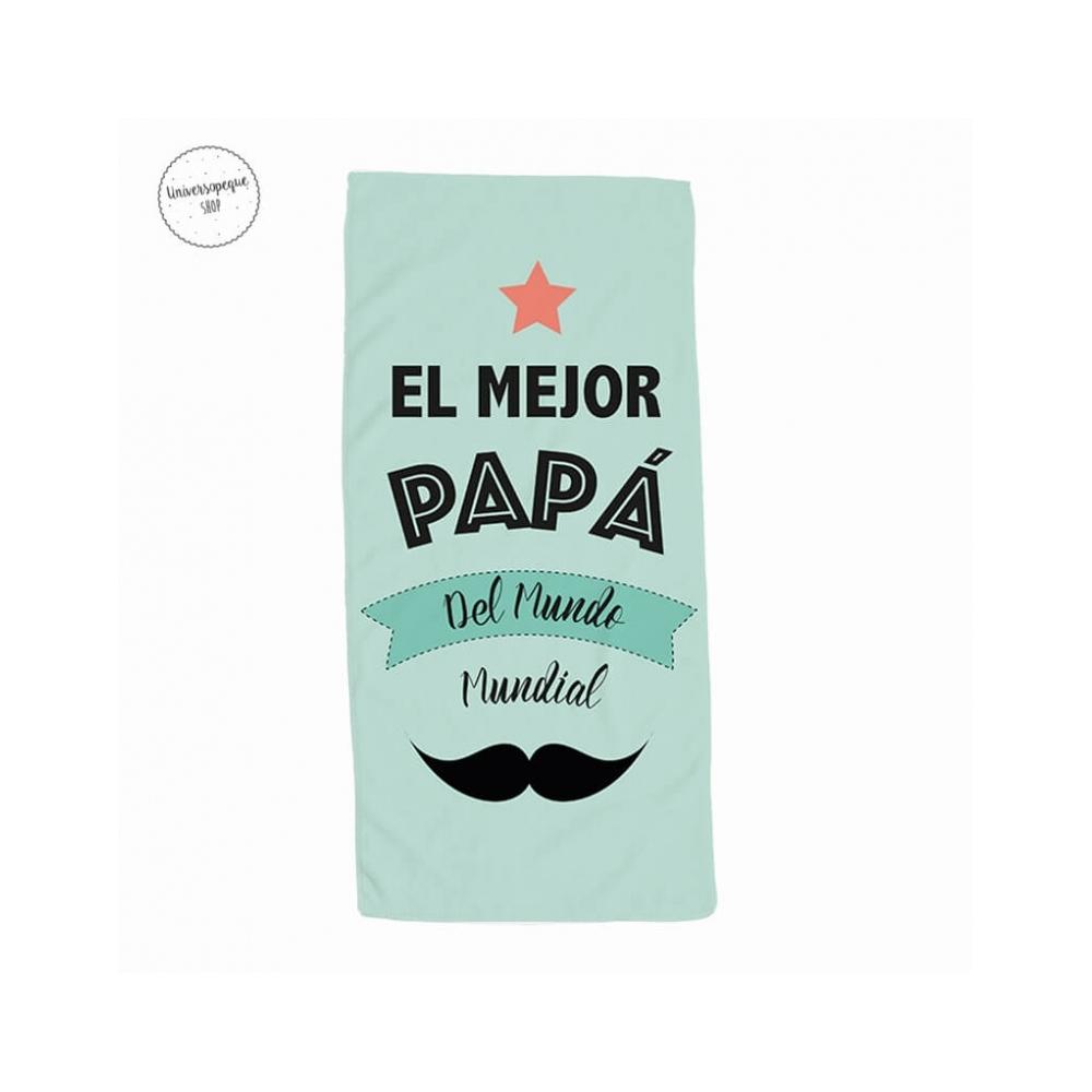 toalla papá el mejor en color verde claro