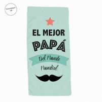 toalla papá el mejor con su nombre