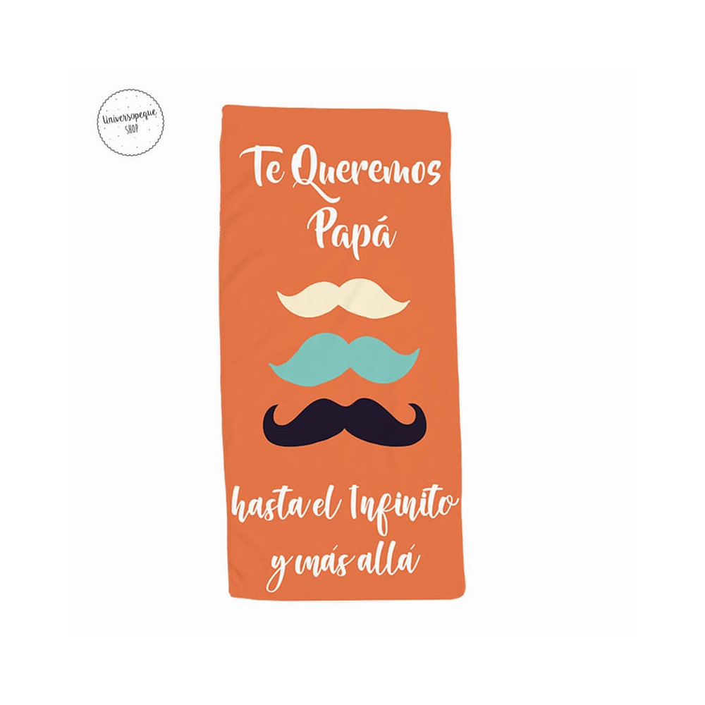 toalla para papá con bigotes
