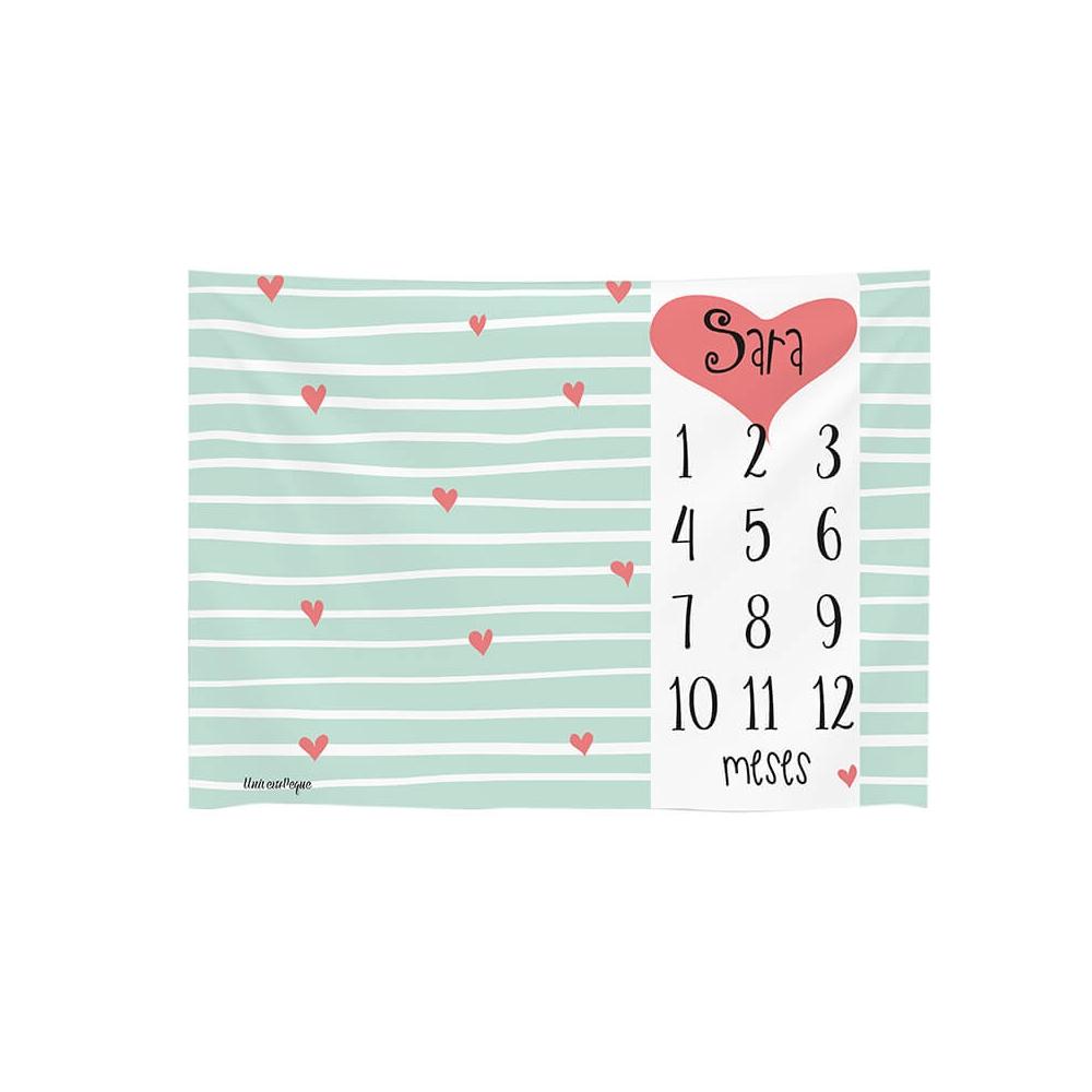 Manta Calendario rayas