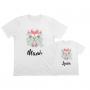Camisetas personalizadas Iguales flores