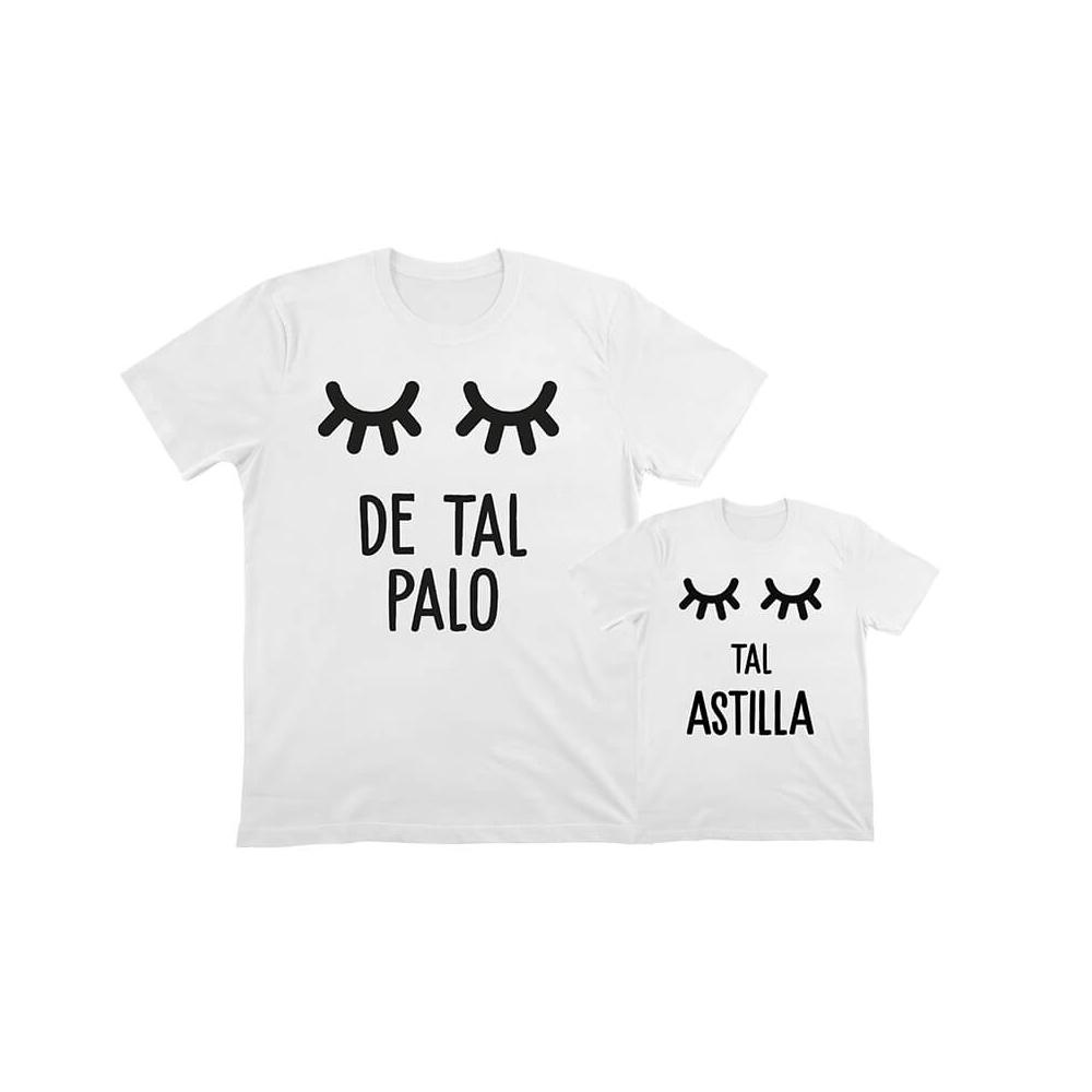 camisetas personalizadas iguales palo astilla pestañas