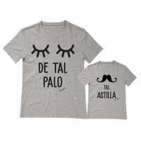 camisetas personalizadas iguales palo astilla gris