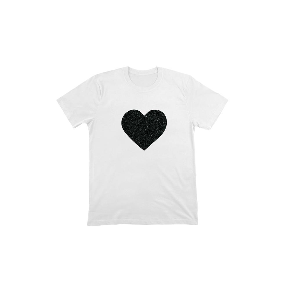 Camiseta Personalizada Lentejuelas Corazón