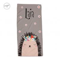 toalla personalizada erizo para niñas