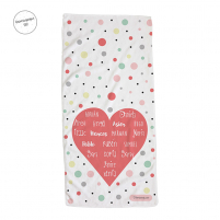 pack toalla botella diseño corazon