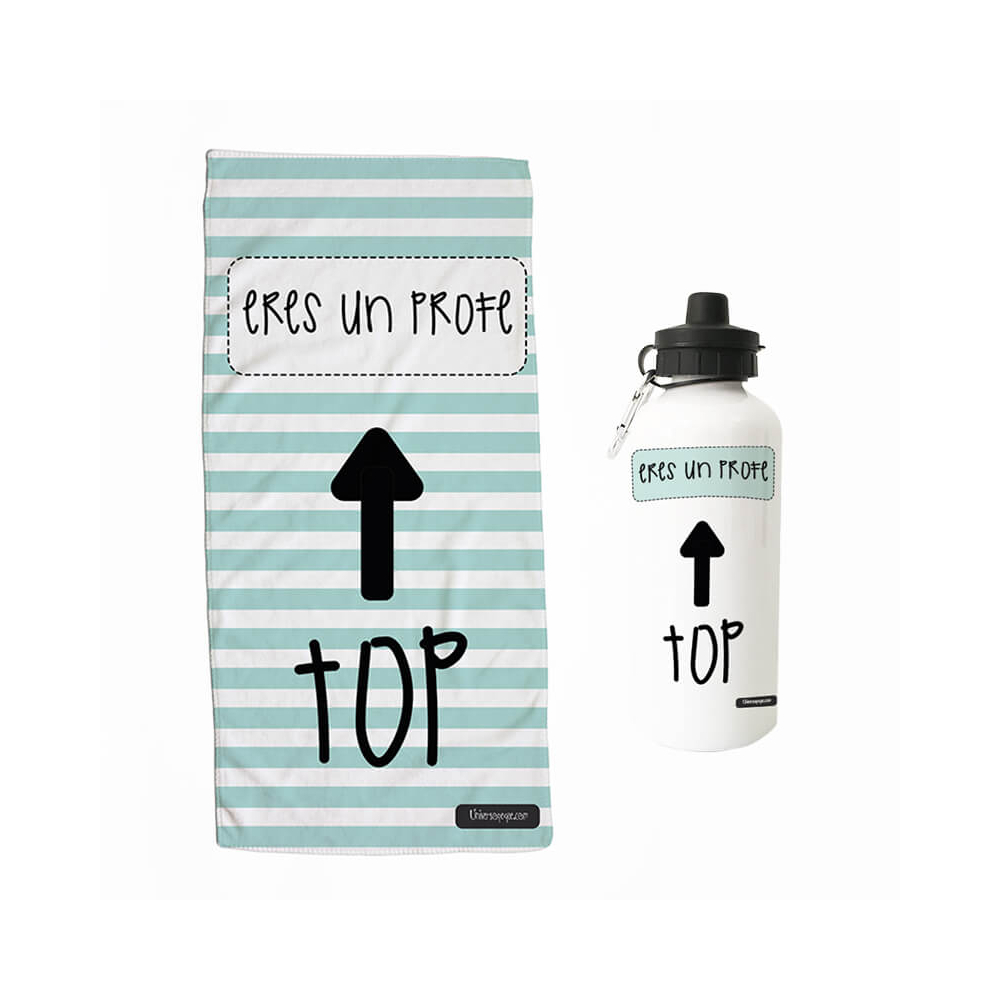 Pack Toalla Botella TOP Mint