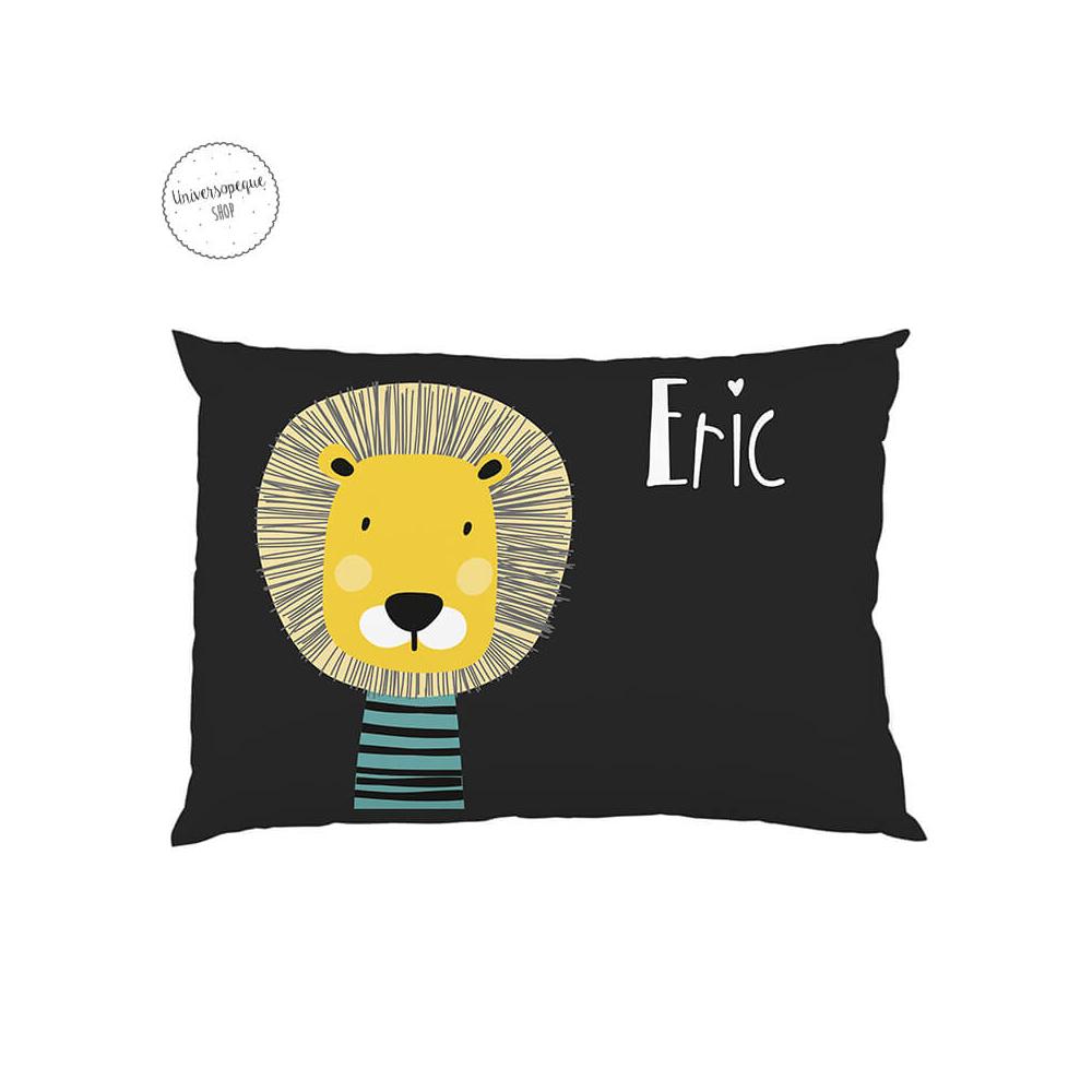cojin guardería personalizado leon negro