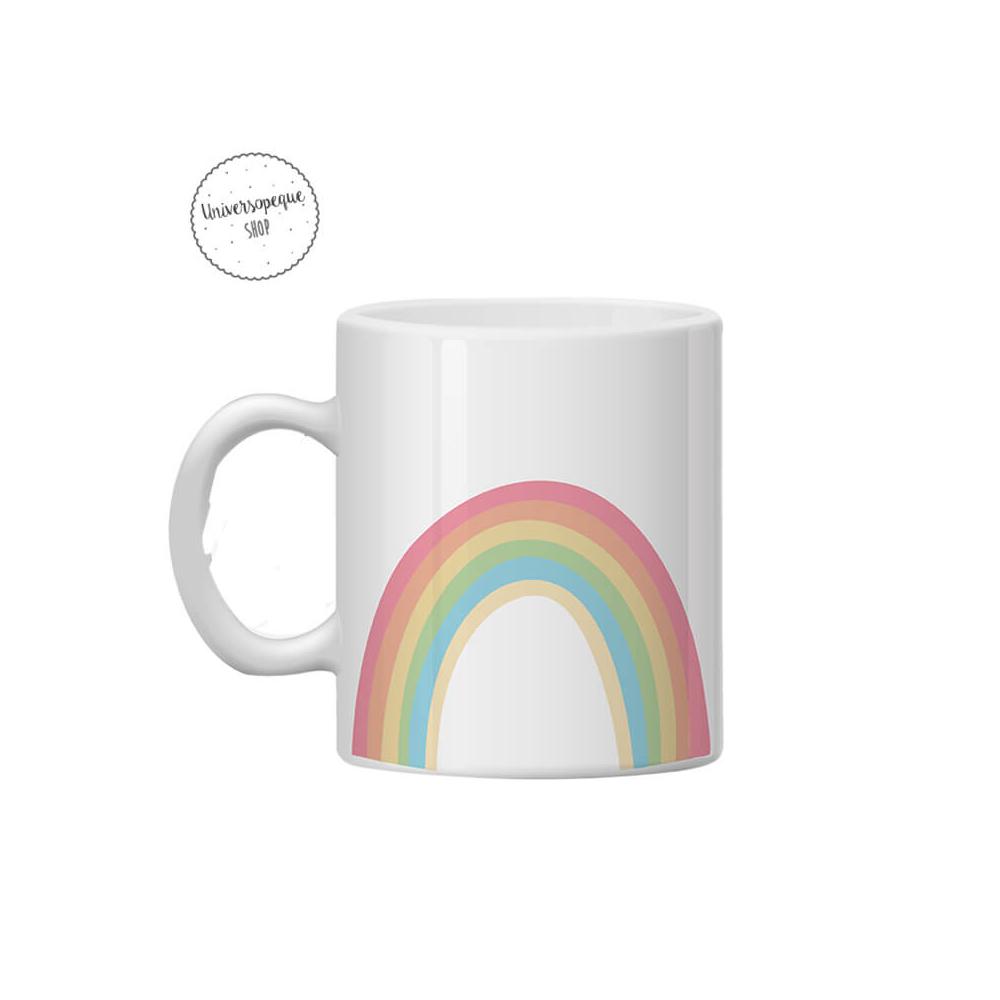 taza plastico arco iris