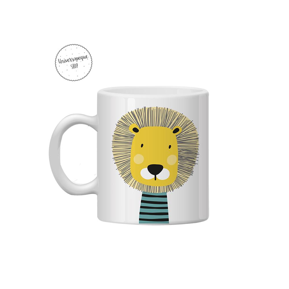 taza leon para el cole