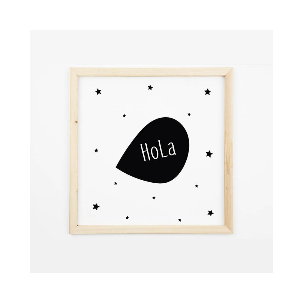 Lámina Infantil Mensaje Hola láminas decorativas
