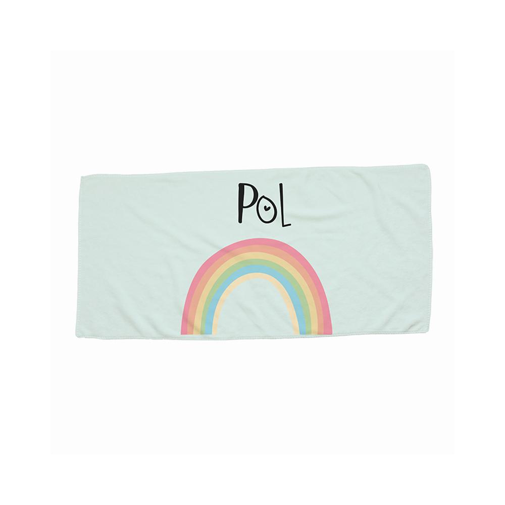 toalla arco iris rosa