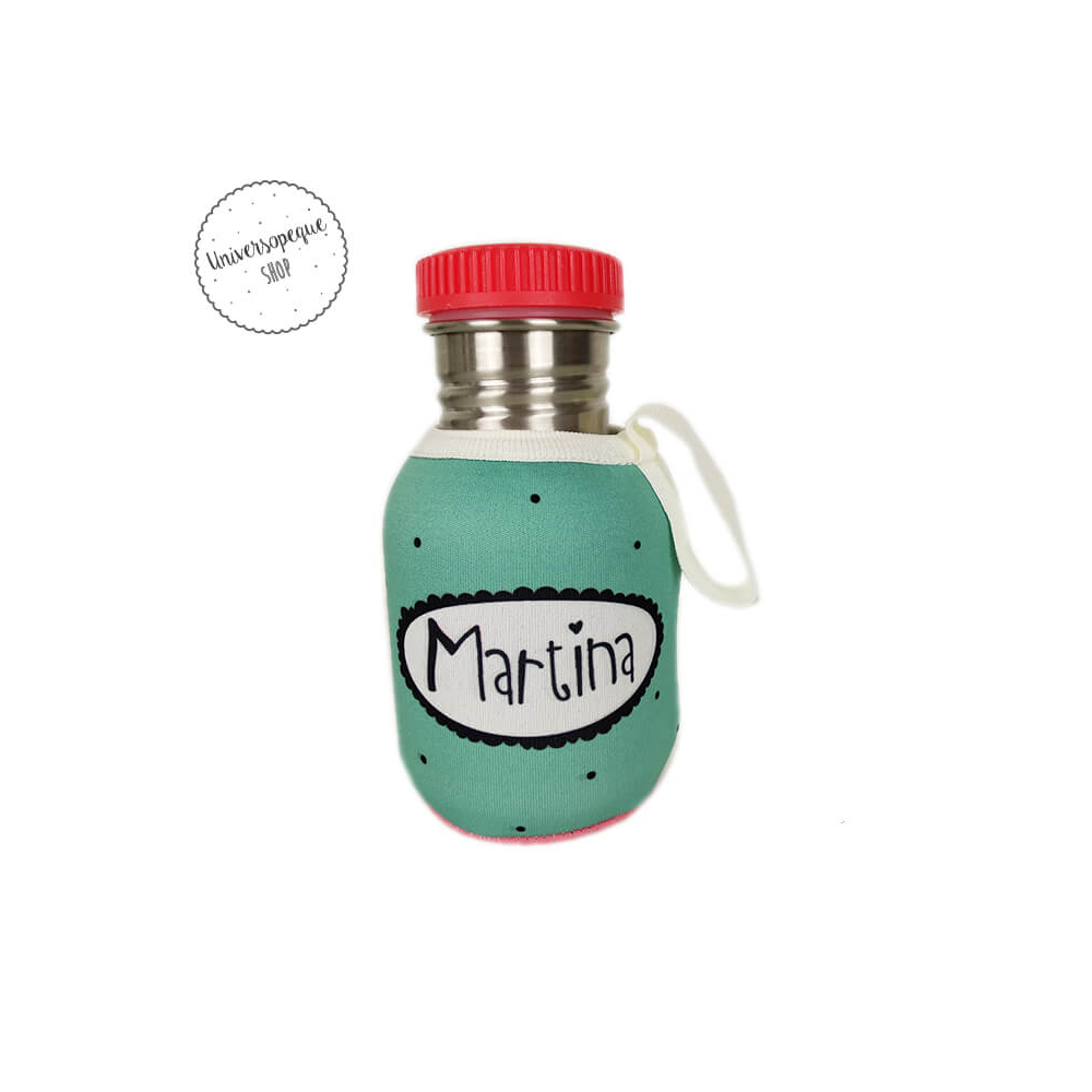 Botella Acero Personalizada Niña parte trasera
