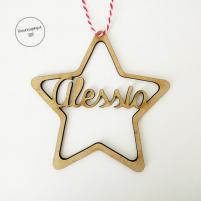 estrella personalizada para decorar árbol navidad