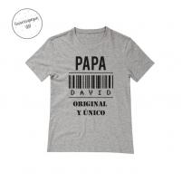 Camiseta Personalizada Papá Original Gris