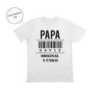 Camiseta Personalizada Papá Original Blanca