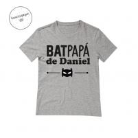 Camiseta Personalizada Bat papá gris