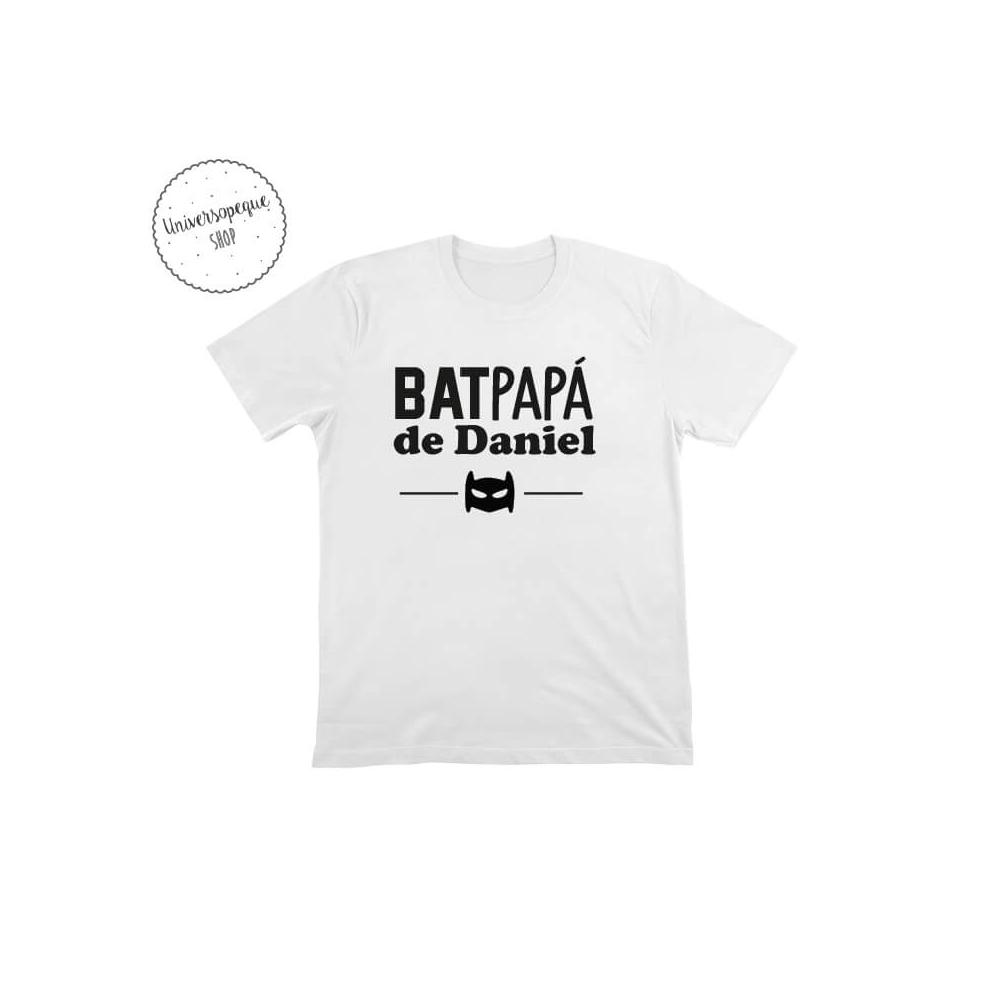 Camiseta Personalizada Bat papá blanca