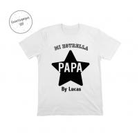 Camiseta Personalizada Papá Estrella blanca para el día del padre
